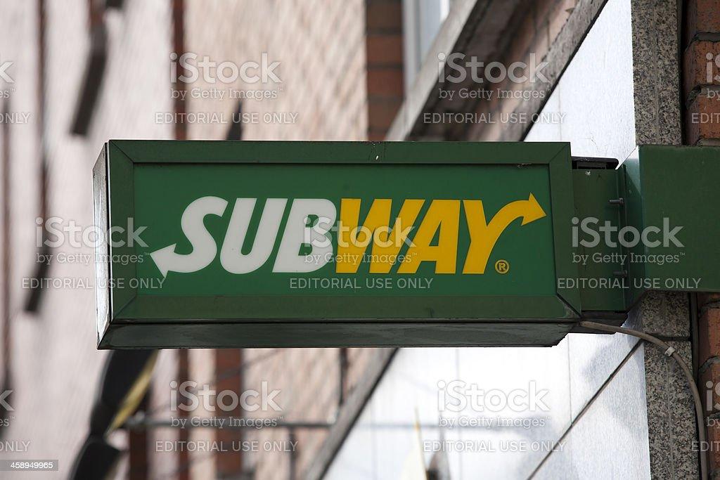 Subway logo royalty-free stock photo