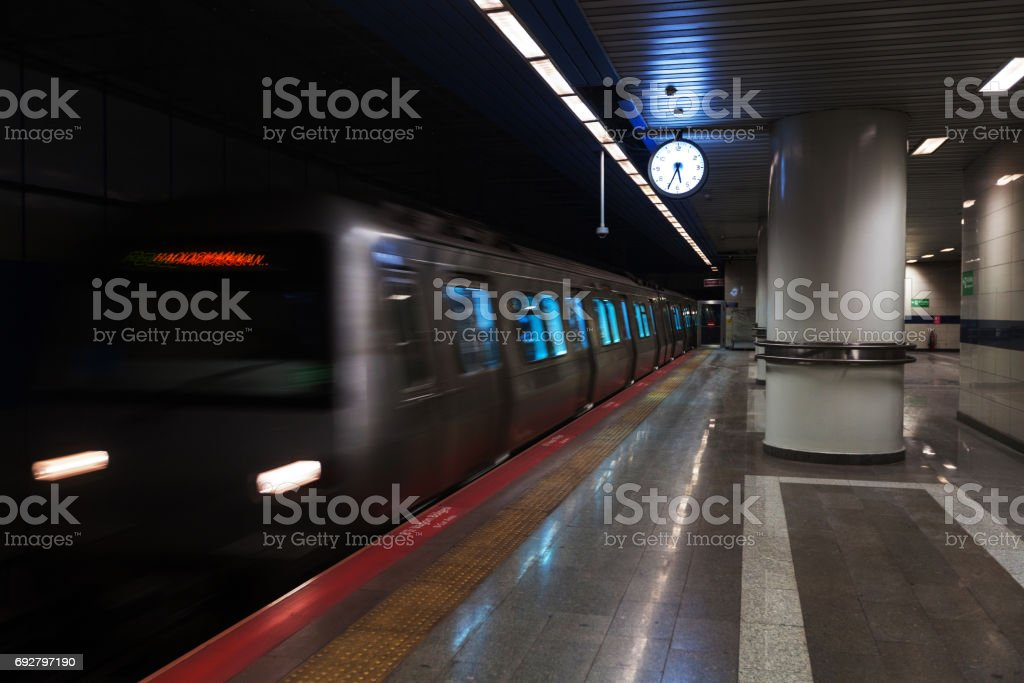 subway metro station stock photo