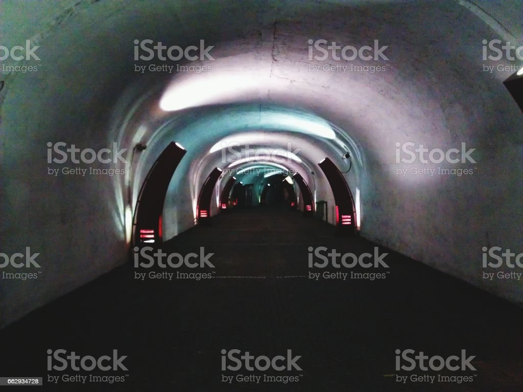 subway metro tunnel in Napoli stock photo