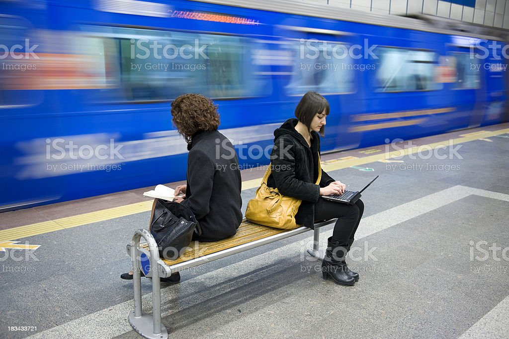 Subway Passengers royalty-free stock photo