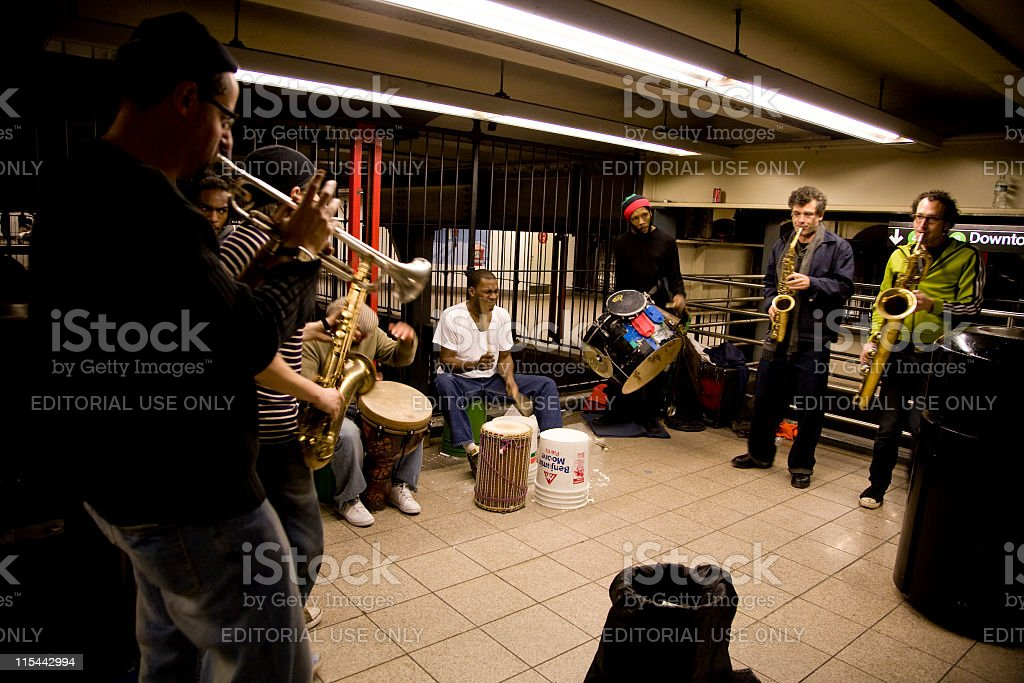 Subway Performers royalty-free stock photo