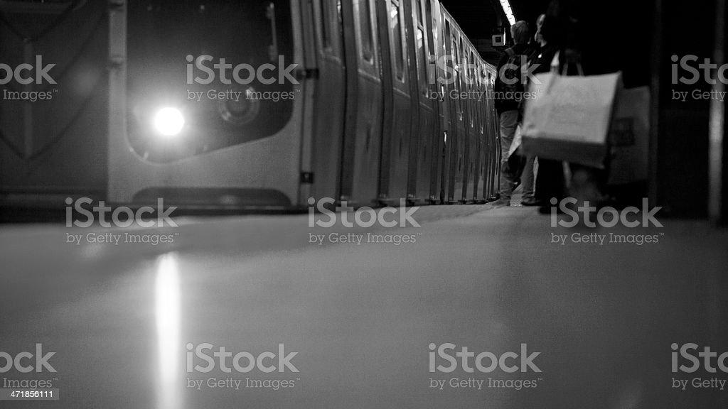 Subway Platform in New York City royalty-free stock photo