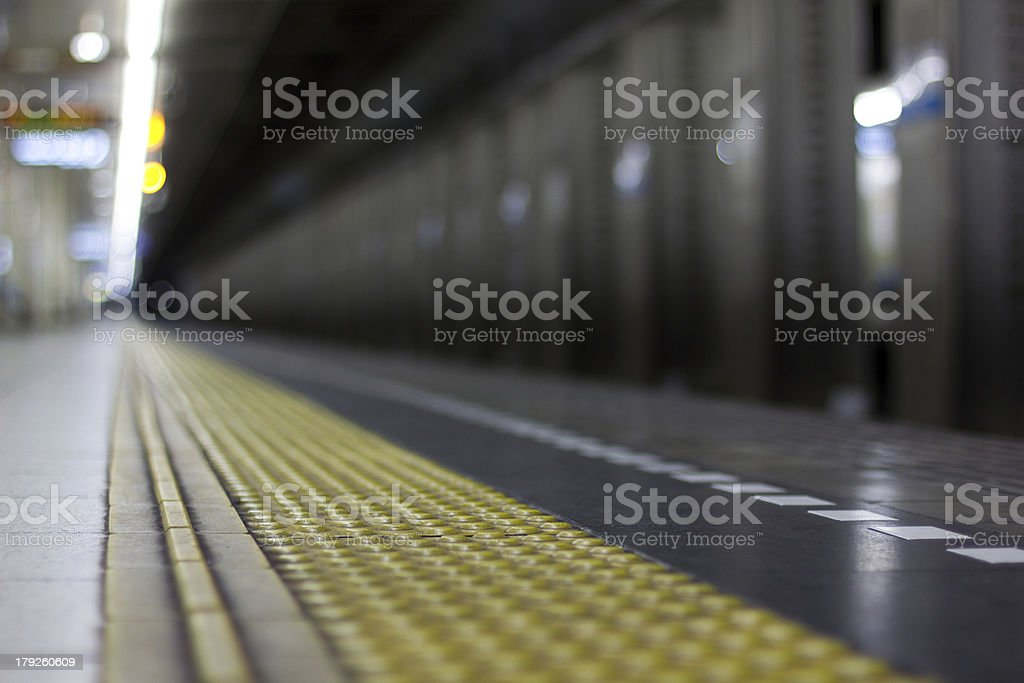 Subway Platform royalty-free stock photo