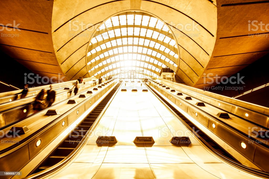 Subway Rush royalty-free stock photo