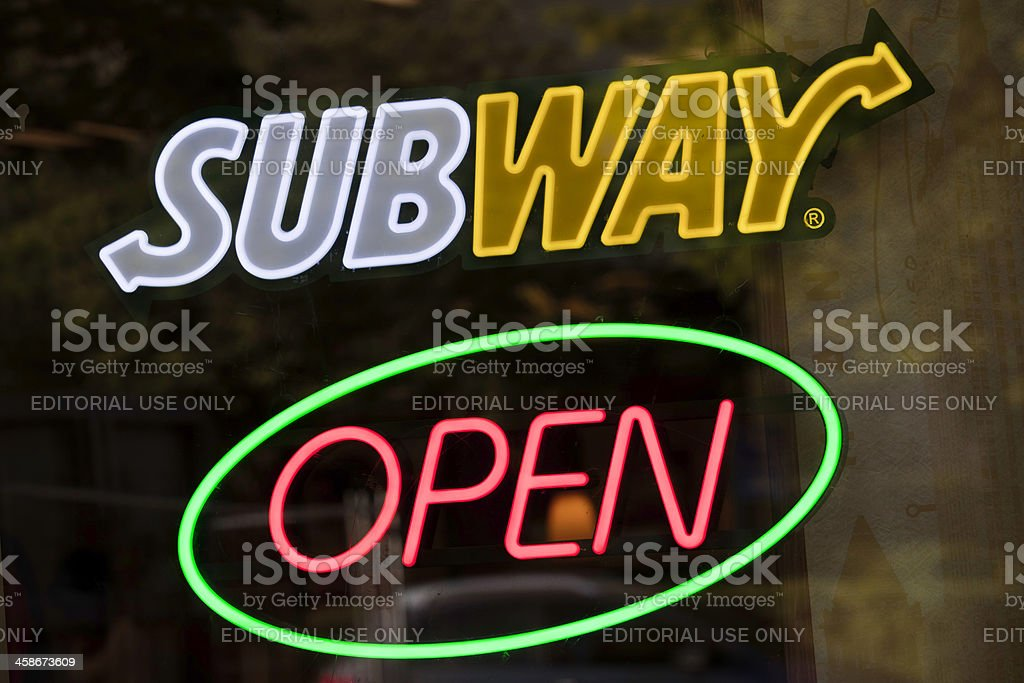 Subway sign stock photo