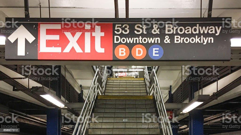 MAT Subway sign,7 Avenue station, New York City, USA stock photo
