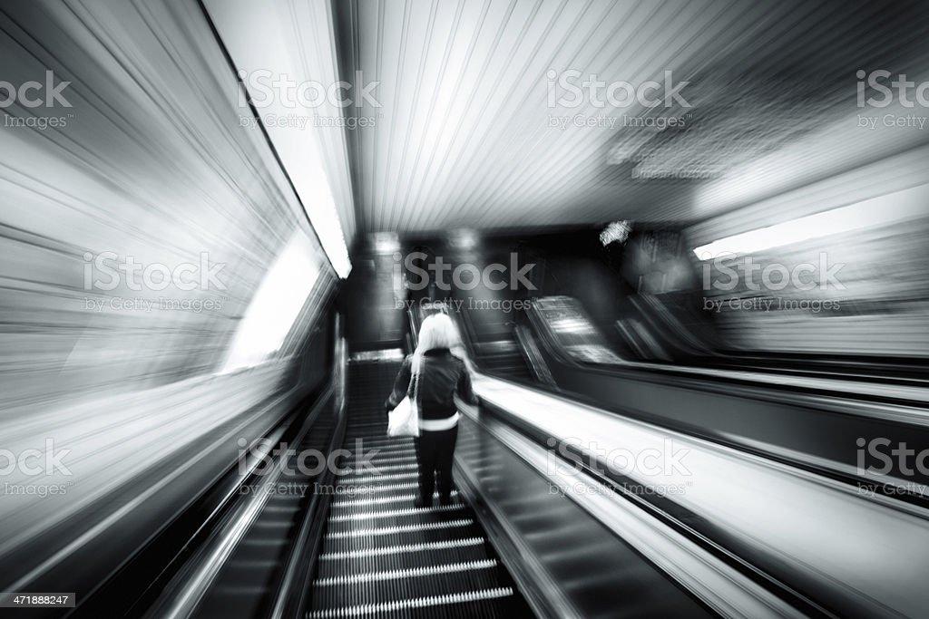 Subway stalker. royalty-free stock photo