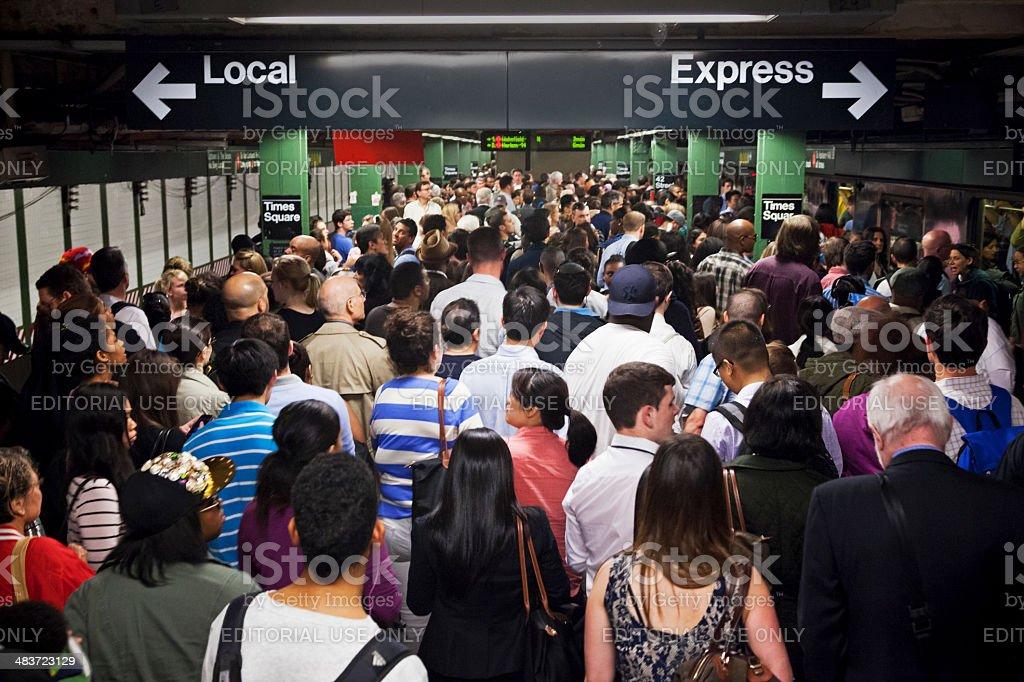 Subway Station 42nd Street stock photo