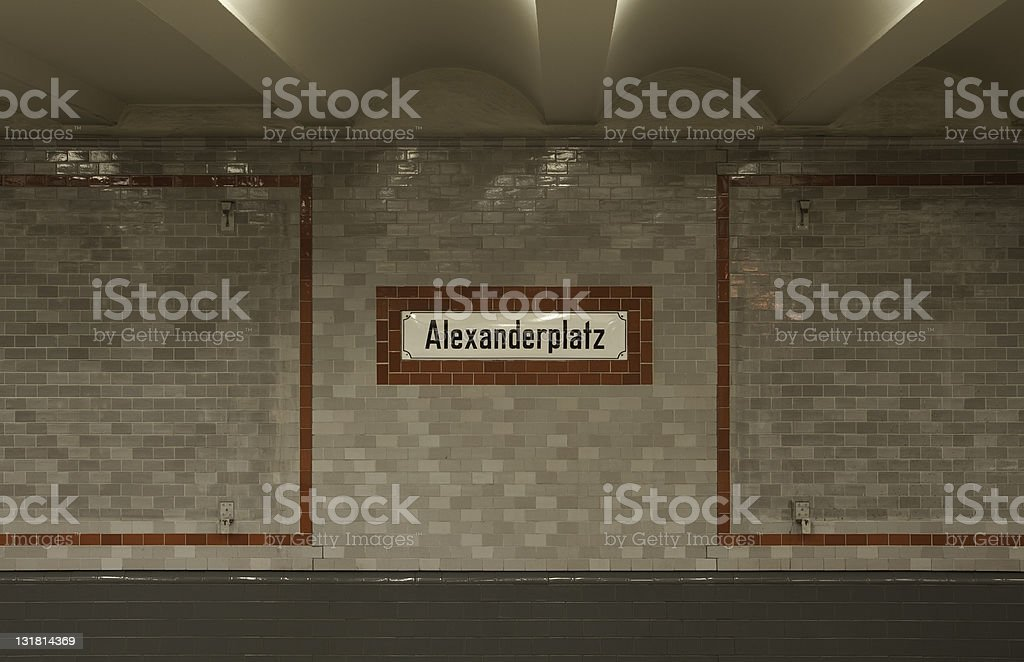 subway station alexanderplatz stock photo
