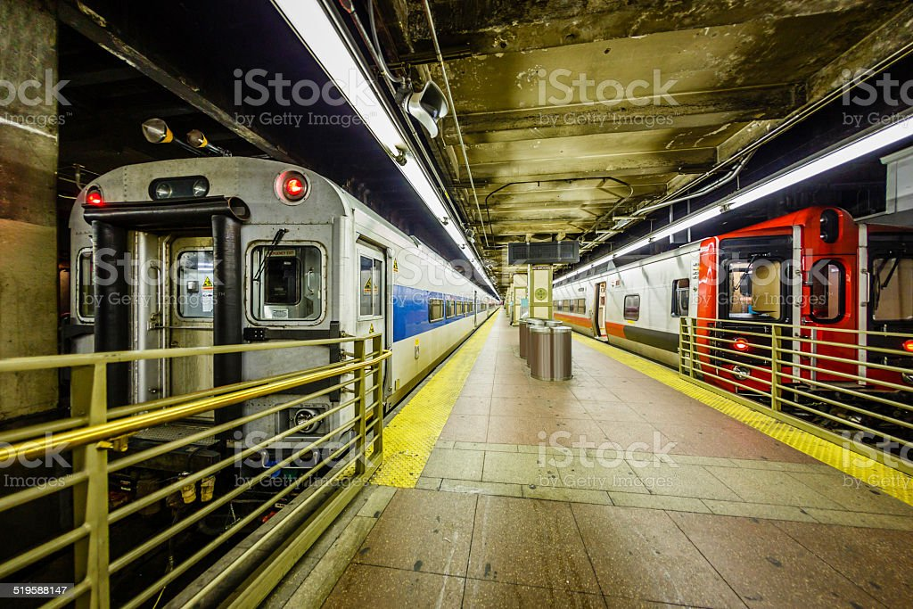 Subway station at Grand Central Station, New York City stock photo