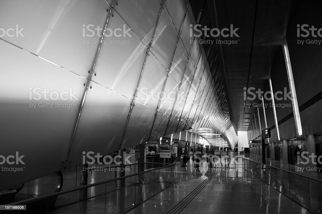 Subway station at Singapore Airport royalty-free stock photo