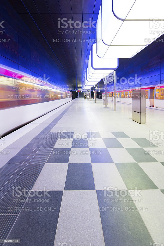 Subway station HafenCity Universitaet in Hamburg royalty-free stock photo