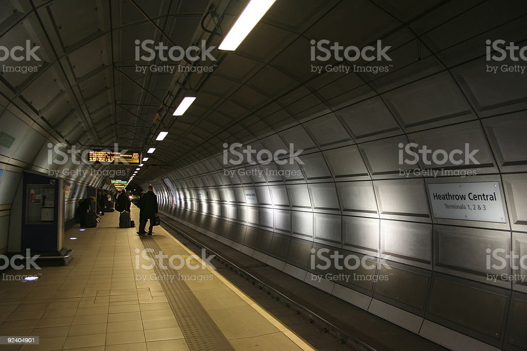 Subway Station Heathrow Central stock photo