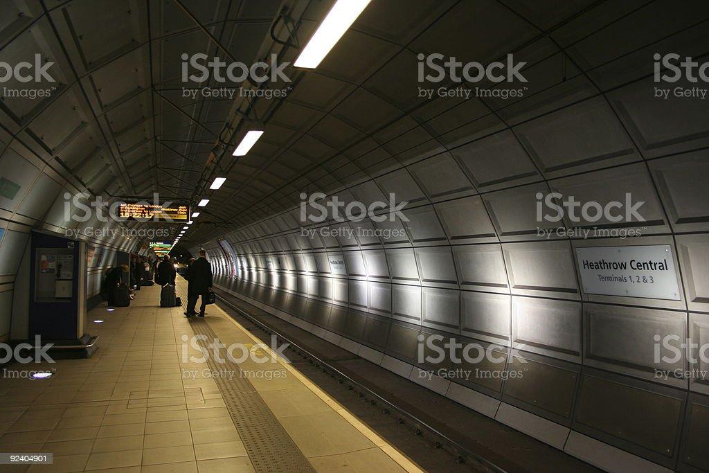Subway Station Heathrow Central stock photo
