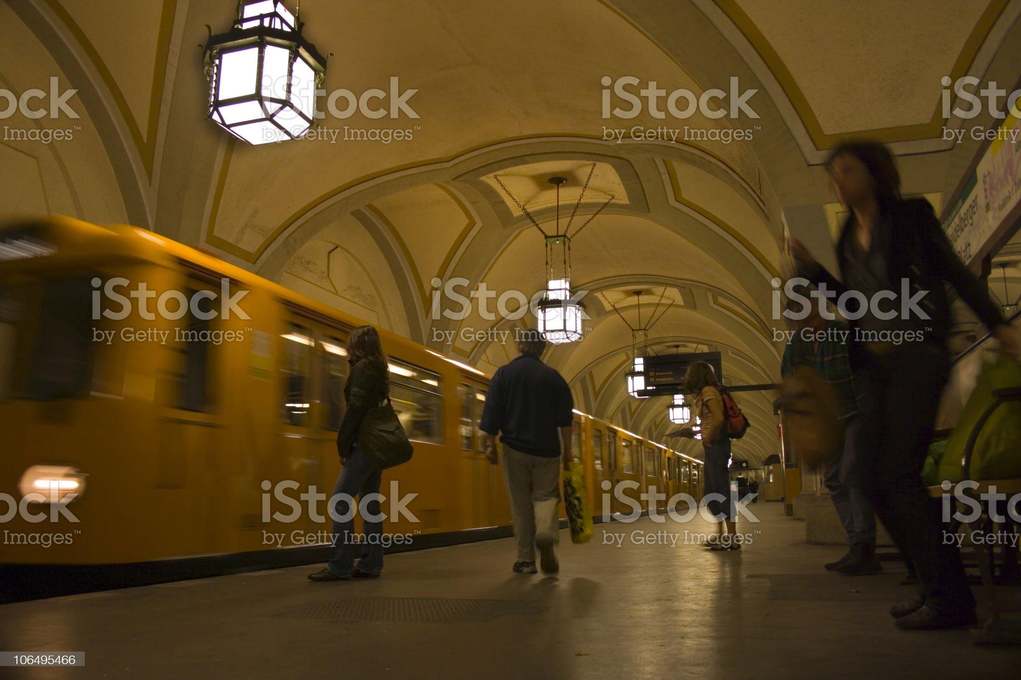 Subway Station 'Heidelberger Platz' royalty-free stock photo
