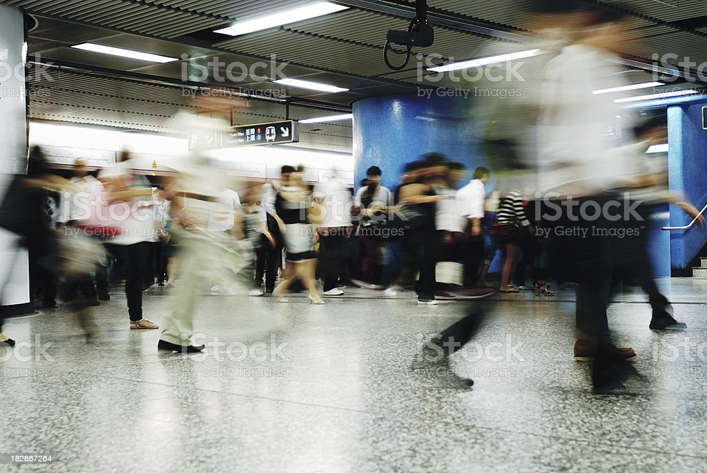 Subway Station Hong Kong (Mass Transit Railway) royalty-free stock photo