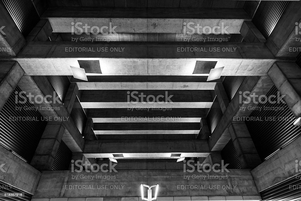 Subway Station in Budapest, Hungary stock photo