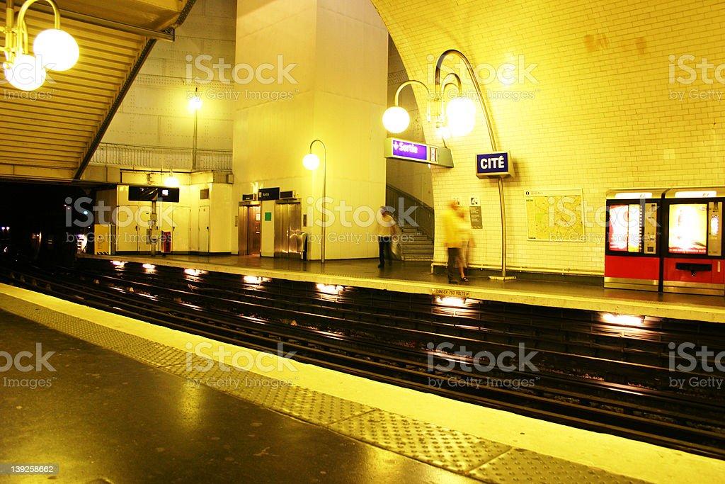 Subway station in paris royalty-free stock photo