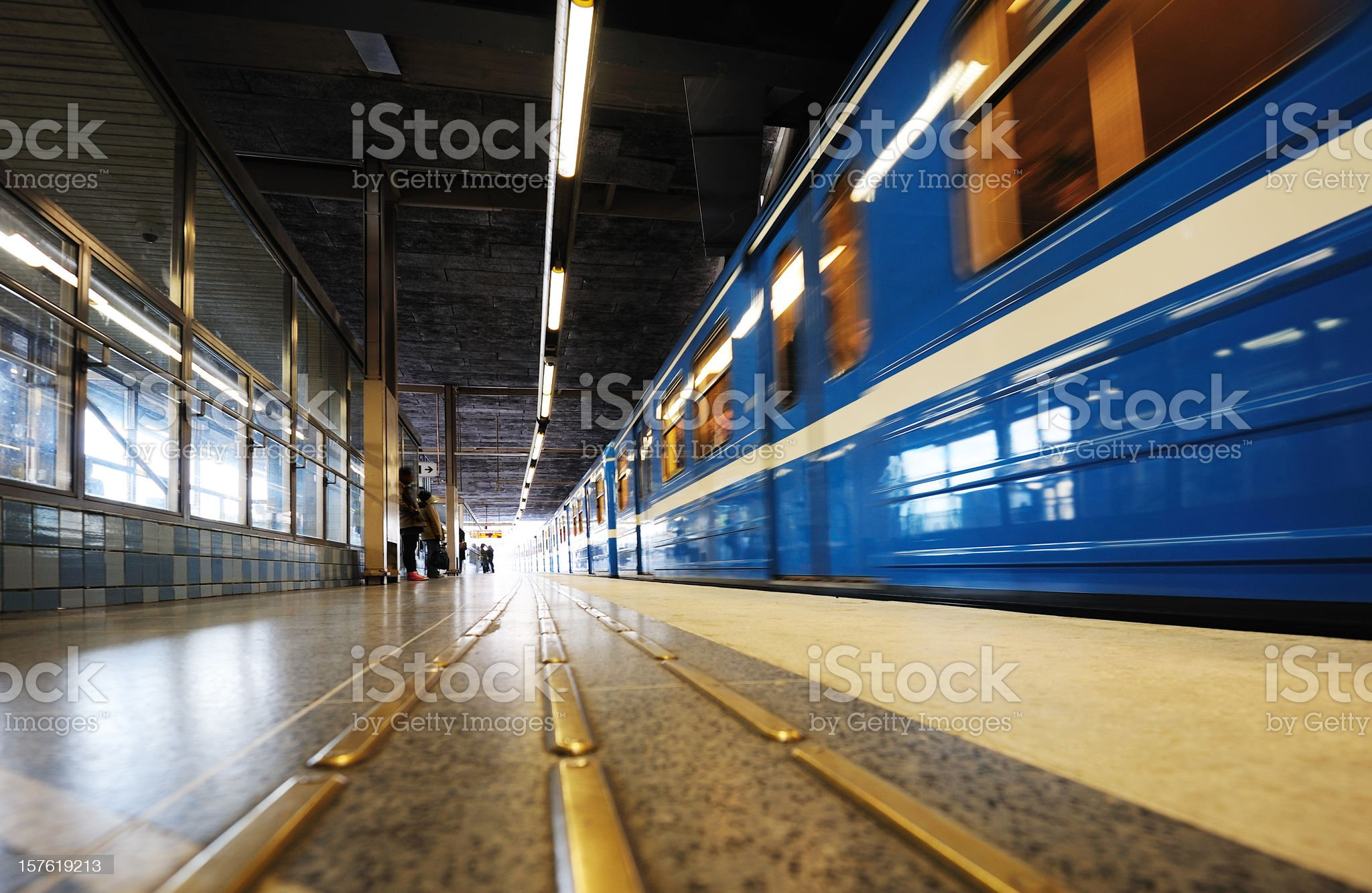 Subway station into bright light royalty-free stock photo