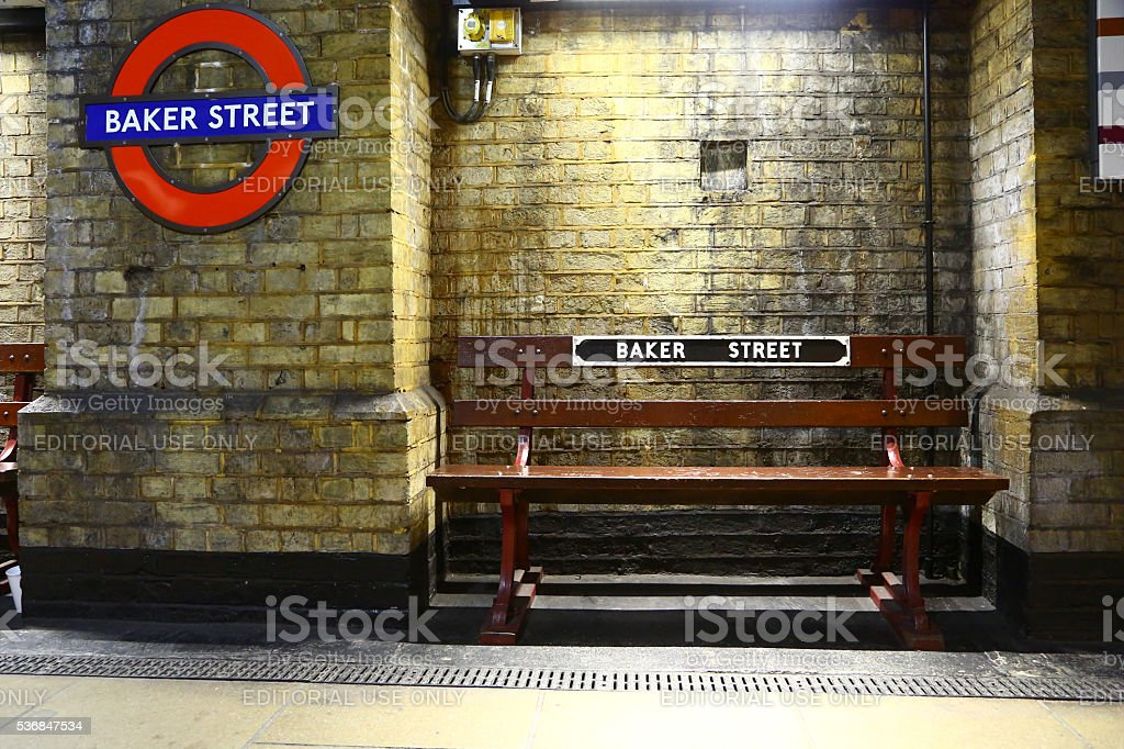 Subway station of Baker street, London stock photo