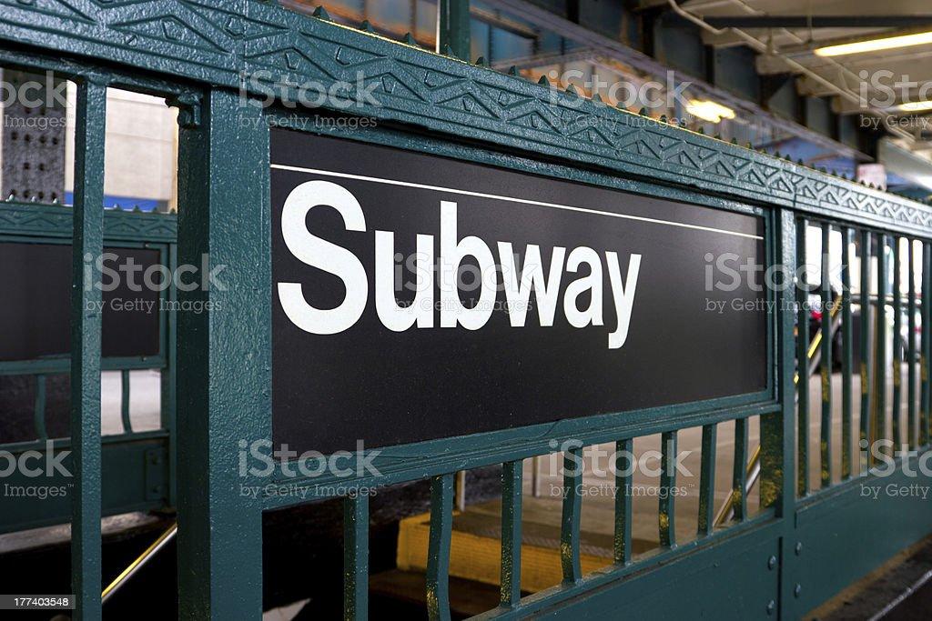 NY Subway Station stock photo