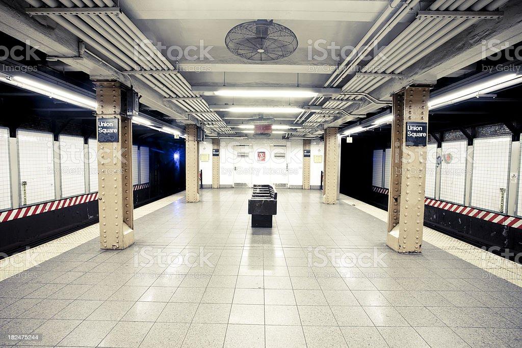 NYC Subway Station stock photo