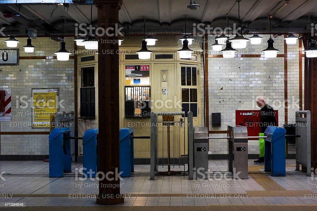 Subway station royalty-free stock photo