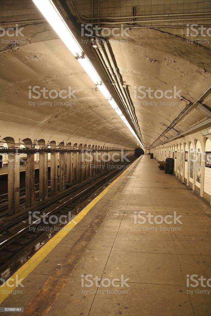 Subway Station Platform royalty-free stock photo