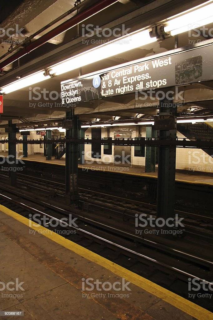 Subway Station Platform royalty-free stock photo