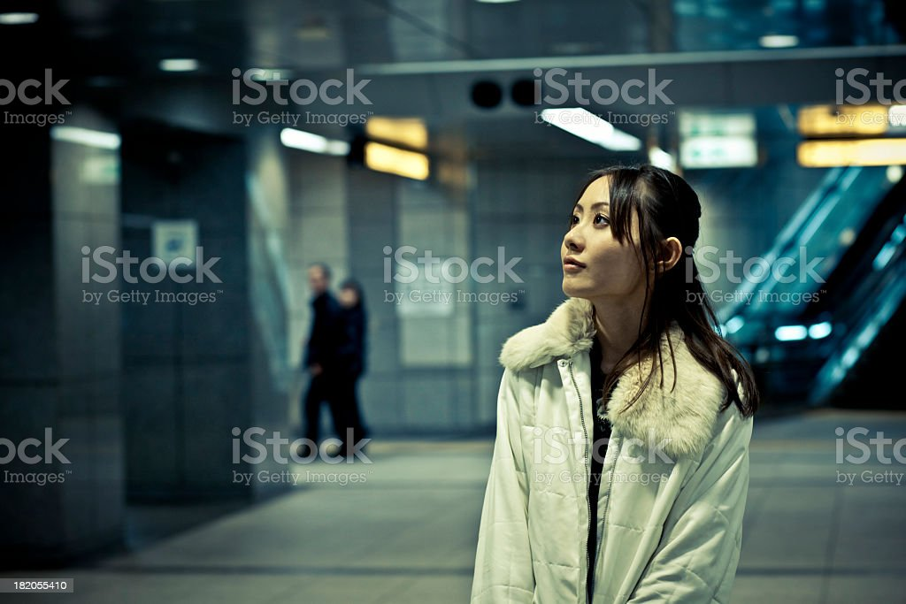 Subway Station Portrait stock photo