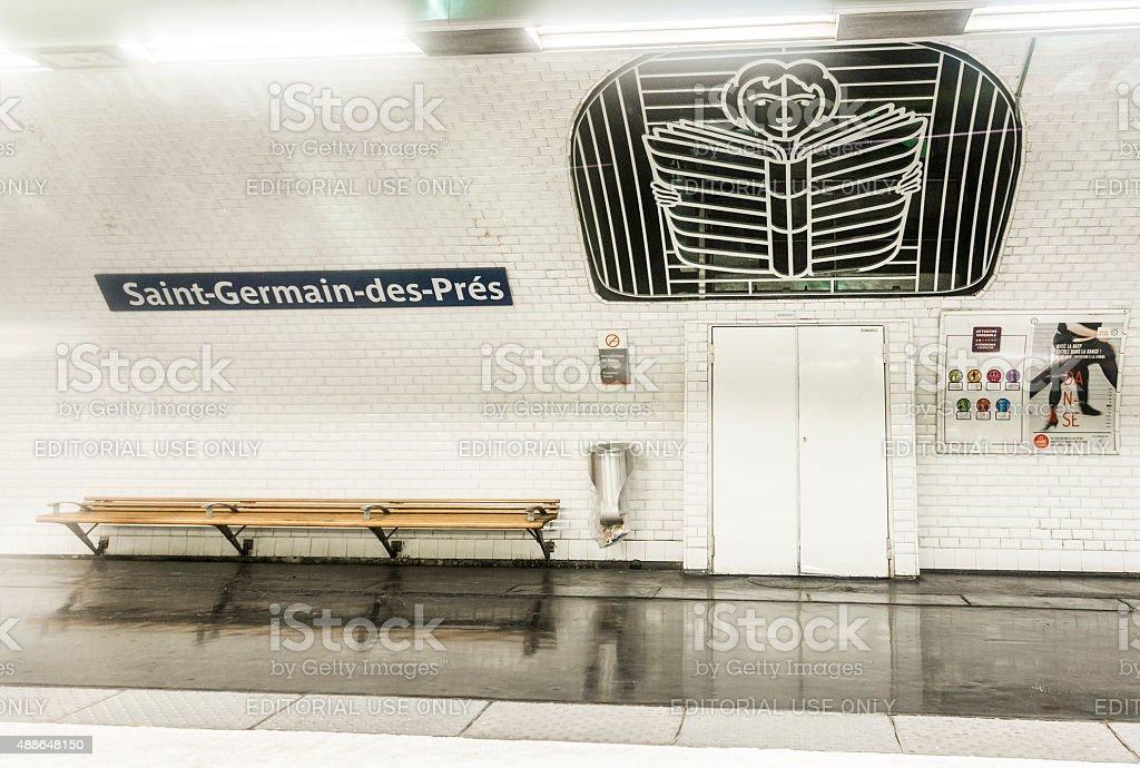 subway station  saint-germain-des-pres in Paris, France stock photo