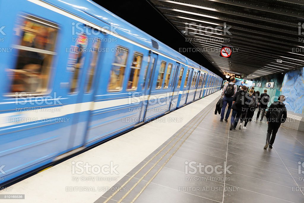 Subway station Stadion stock photo