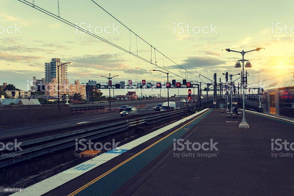 Subway station, Sydney stock photo