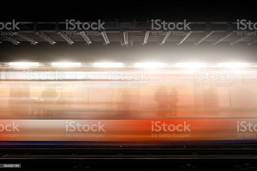 Subway station train station stock photo