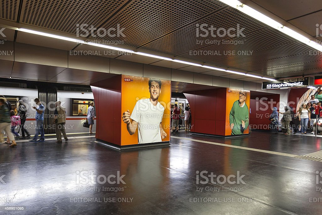 Subway station. Vienna, Stephansplatz royalty-free stock photo