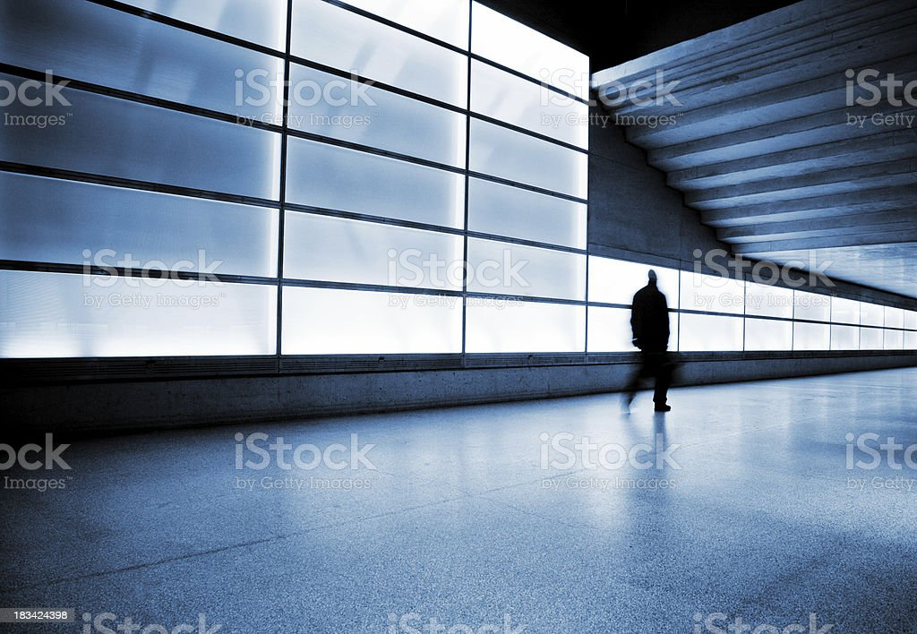 Subway Station Walkway royalty-free stock photo