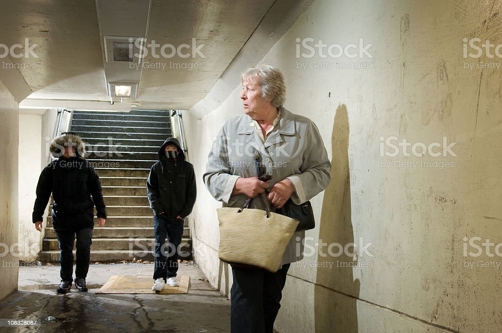 subway threat royalty-free stock photo