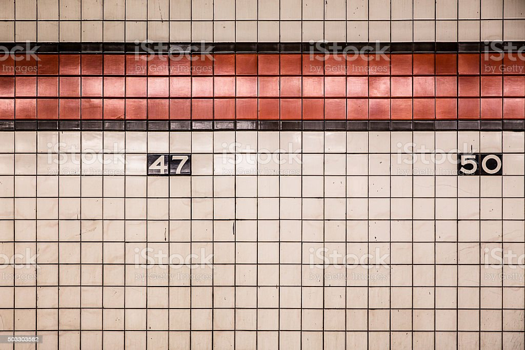 Subway Tiles NYC stock photo