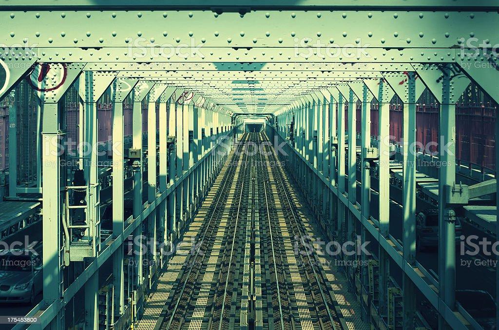 subway tracks stock photo