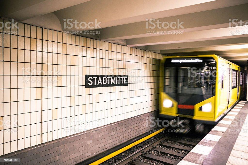 Subway train in Berlin - Germany stock photo