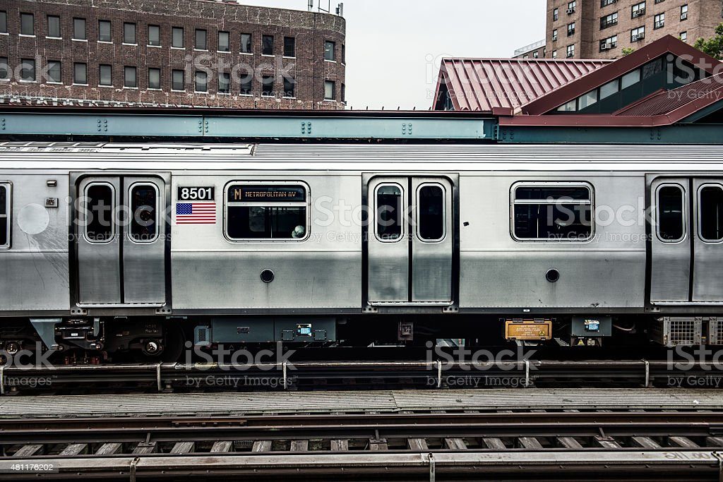 Subway Train in New York stock photo