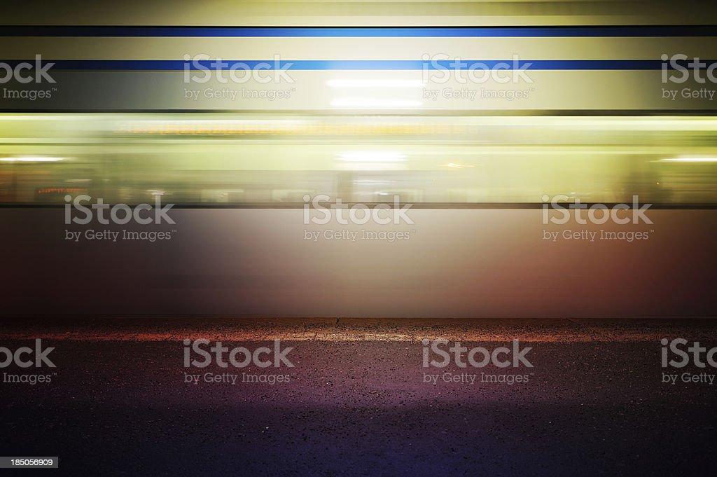 Subway train in profile royalty-free stock photo
