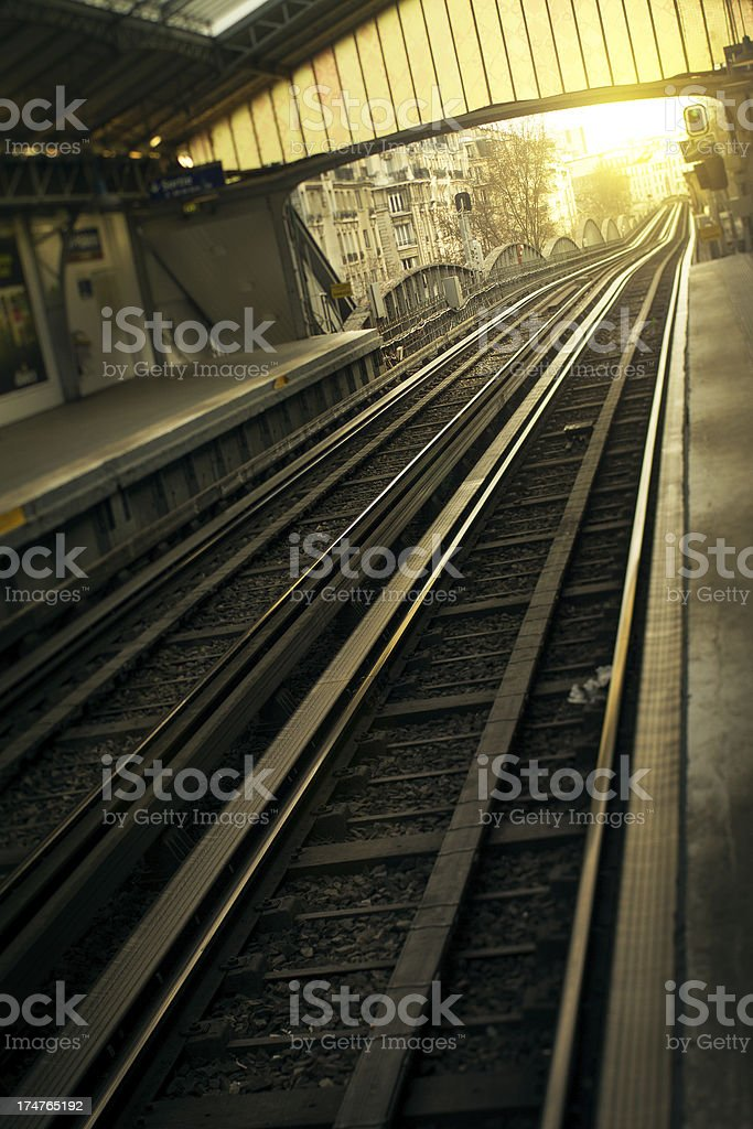 Subway Train Metro Public Transport in Paris royalty-free stock photo
