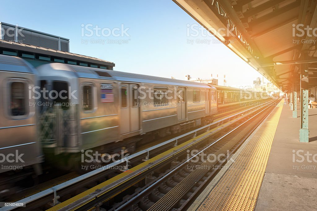 Subway Train, New York City stock photo