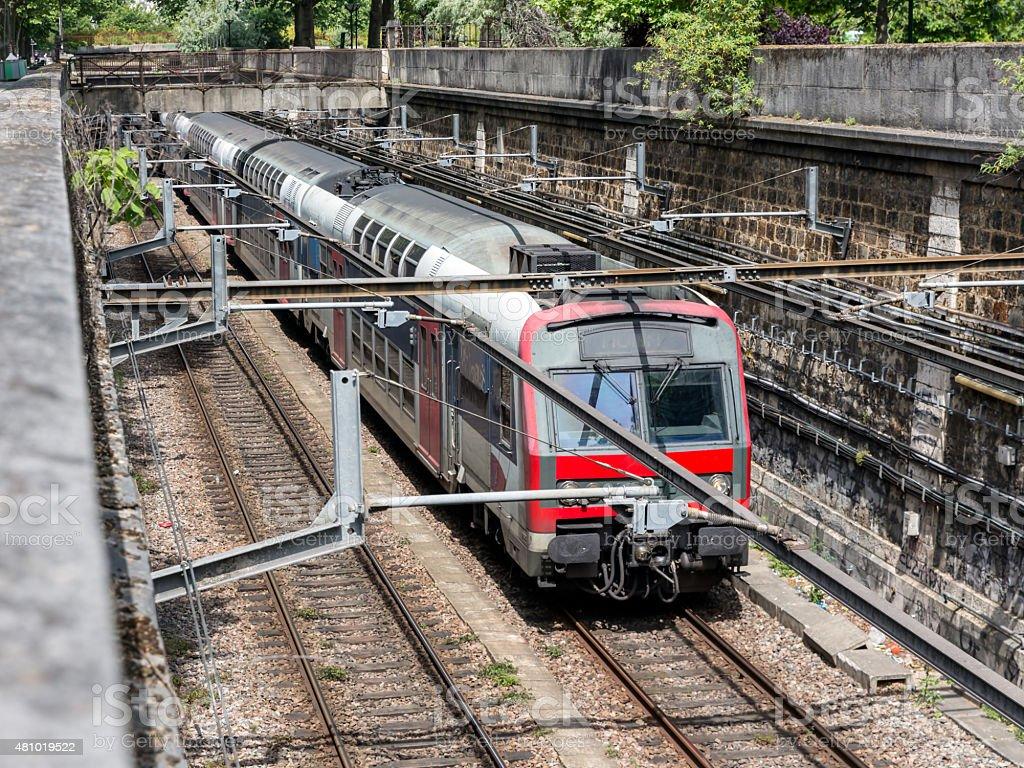 Subway train Paris, France stock photo