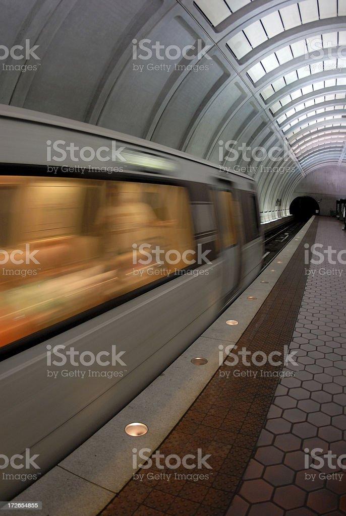 Pociąg podziemny zbiór zdjęć royalty-free