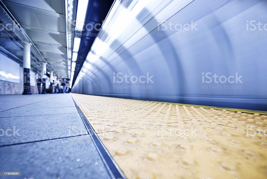 NYC subway train royalty-free stock photo
