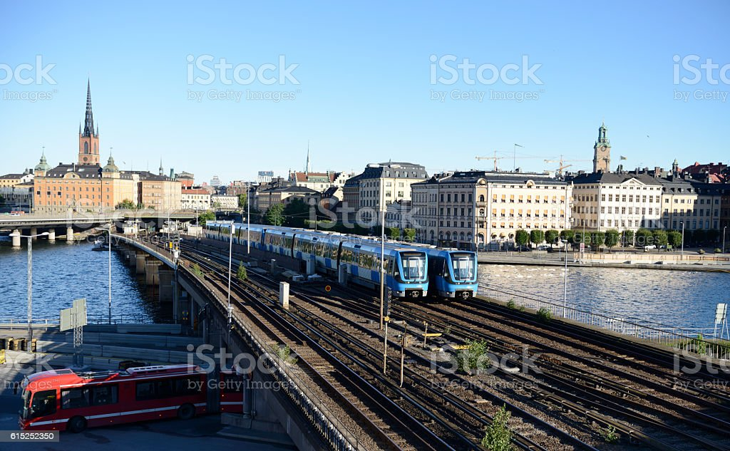 Subway train, Stockholm stock photo