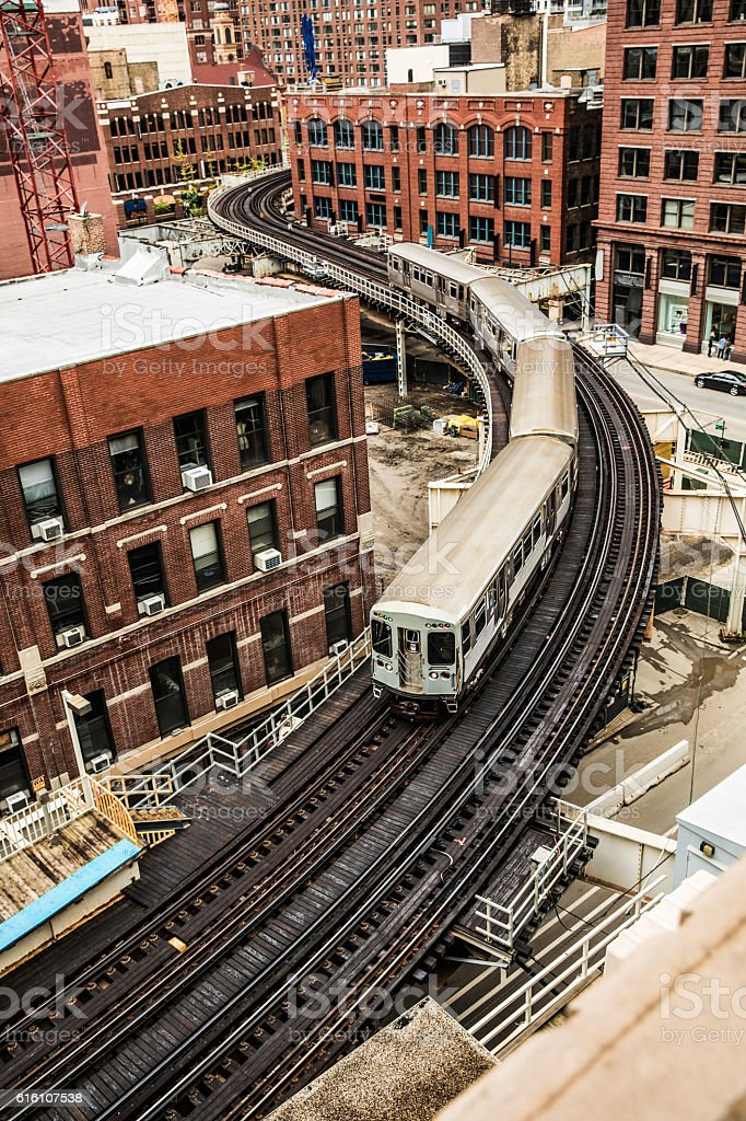 Subway train - Transportation in Chicago, IL stock photo