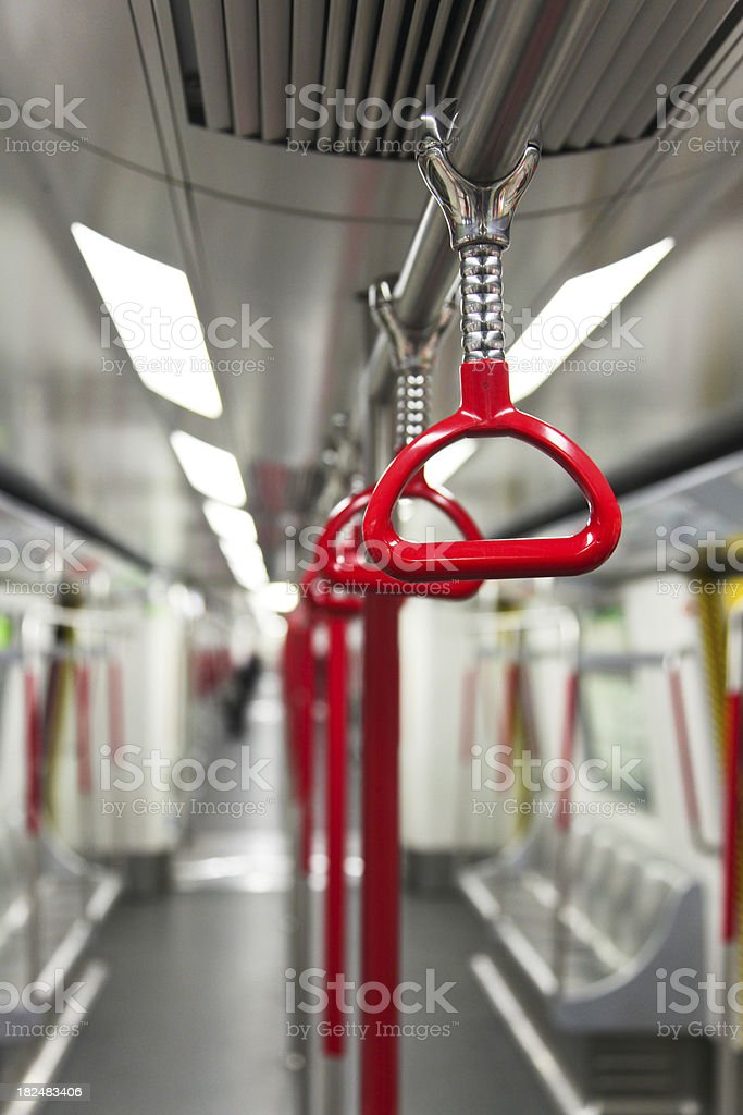 Subway Trains Cabin and Handles royalty-free stock photo